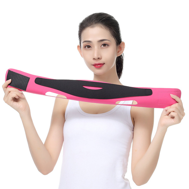 Rosto elástico emagrecimento bandagem v linha rosto shaper mulher queixo bochecha levantar cinto massagem facial cinta rosto cuidados com a pele beleza ferramentas 4