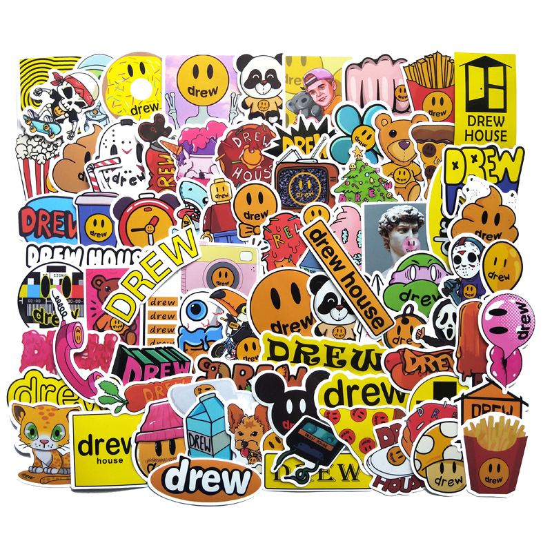 80PCS Singer Justin Bieber Drewhouse Sticker Pack For PC 2020 Suitcase Laptop Motorcycle Styling Cool Cartoon Stickers