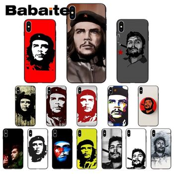 che guevara Pattern TPU Soft Phone Accessories Cell Phone Case for iphone X XS MAX 5 6S SE 7 8 plus XR 11pro Mobile Cases image