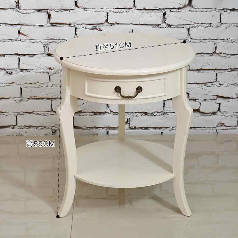 european small coffee table side table small round table living room sofa side cabinet bedroom bedside small table corner table