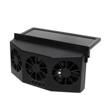 Samochód szyberdach wentylator chłodzący Radiator wentylator przeciwsłoneczny słoneczny podwójny kanał wentylator wyciągowy tanie tanio CN (pochodzenie)