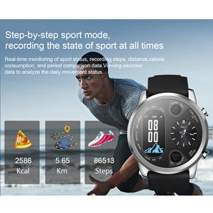 Image 3 - SYSOTORYU T3pro Smart Orologio Dual Time Zone Uomini di Sport Impermeabile Smartwatch di Frequenza Cardiaca Bluetooth Activity Tracker per IOS Android