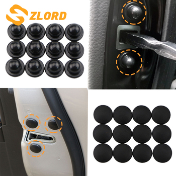 Zlord Car Door Lock Screw Protector Stickers Cover for Subaru Forester Outback Legacy Impreza XV BRZ Tribeca Trezia image