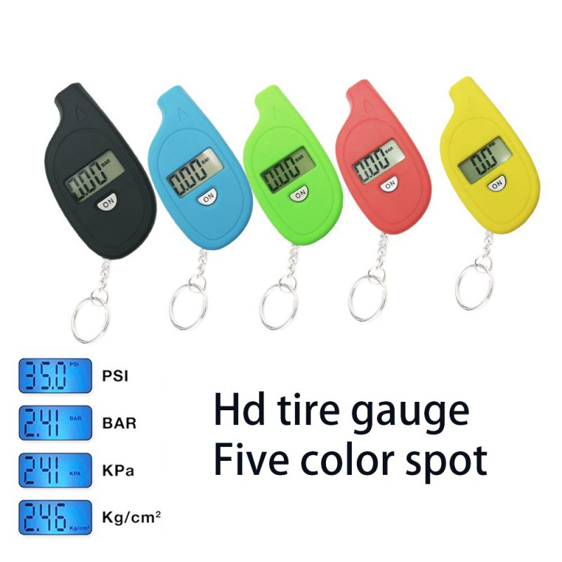 5 Color 3-150 PSI Car Tire Pressure Tester Motorcycle Auto Tyre Portable Digital Air Meter Gauge LCD Display Procession Tool