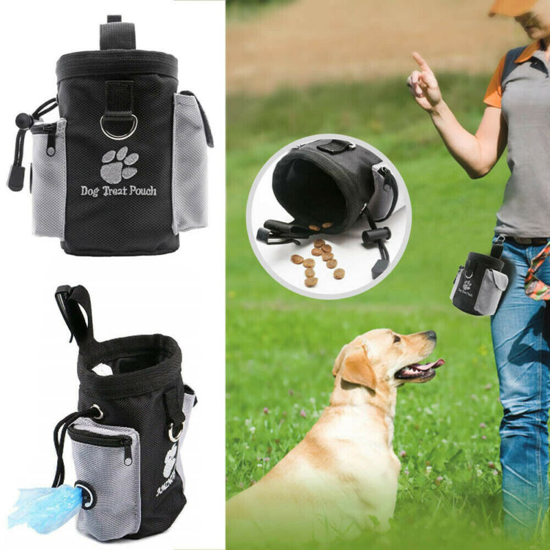 Pets Dog Puppy Obedience Training Treat Bag Feed Bait Food Snack Pouch Belt UK
