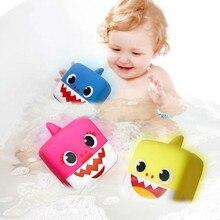 2Pcs/set Baby Cartoon Shark Bath Toy Cute Water Toys with Led Music Kids  Education Summer Beach Swimming bathtub