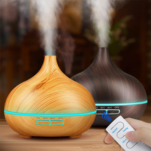 Electric Aroma Essential Oil Diffuser Ultrasonic Air Humidifier with Wood Grain 7 Color Changing LED Lights for Home office цены онлайн