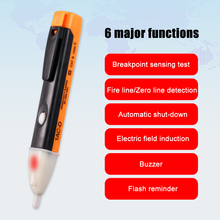 Induction Voltage Detector Electric Non Contact Test Pen Fire Wire Pencil Meters Lightweight Parts Gauging Survey