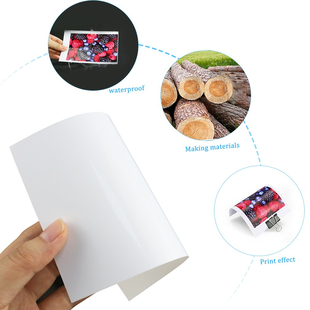 High Glossy Photo Paper Color Inkjet Printing Paper A4 Photo Paper 180g Waterproof
