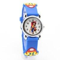 New 3D Cartoon Super mario doll kids Watch Children Kids Girls Boys Students Quartz Wristwatches supermario 1