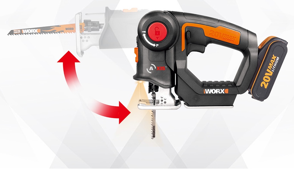 Worx Electric Saw WX550 20V Cordless Axis Saw