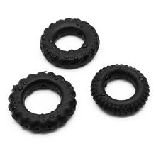 Premium Quality New 3PCS Penis Ring Set Stretchy Silicone Cock Rings for Men Longer Harder Stronger Erection