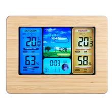 Draadloze Weer Klok Digitale Thermometer Draadloze Sensor Forecast Temperatuur Hygrometer Weerstation Draadloze Wekker
