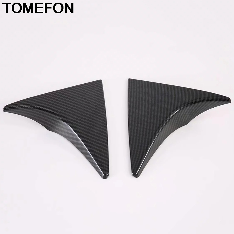 TOMEFON For <font><b>Hyundai</b></font> Tucson 2016 2017 2018 <font><b>2019</b></font> 2020 Rear Tail Window Spoiler Windshield Cover Trim Accessories ABS Carbon Fiber image