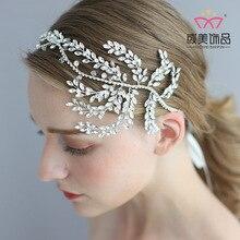Fashion Bride Ornaments Wedding Dress Decorate Wedding Hair Accessories Luxury Rhinestone Crystal Hair Women Headwear D2321 цена и фото