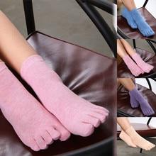 Забавные женские носки с принтом разноцветные носки с пальцами носки с пятью пальцами теплые хлопчатобумажные забавные носки женские носки