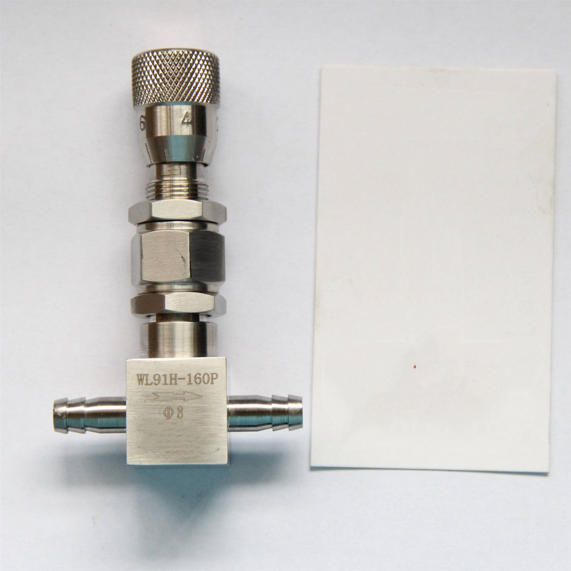 6mm 8mm 10mm Pagoda Type Micro Adjustment Valve Stainless Steel Needle Valve Straight Flow Regulating Valve 16MPA