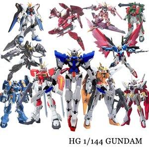 Image 1 - Anime Gaogao 13cm HG 1/144 Flügel Gundam Fenice XXXG 01WF Modell Heißer Kinder Spielzeug Action Figuras Montiert Phoenix Roboter Puzzle geschenk