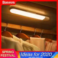 Baseus Led Armadio Luce Pir Sensore di Movimento di Induzione Umano Armadio Guardaroba Lampada Under Cabinet Luce di Notte per La Cucina Camera da Letto