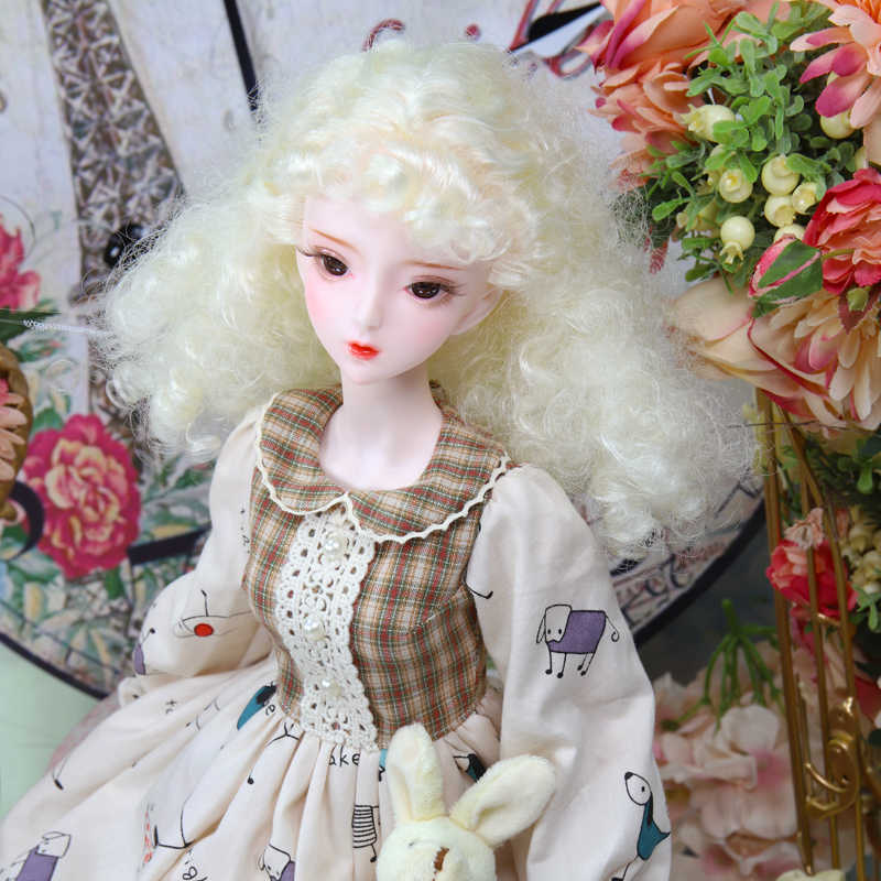 Dbs 1/3 bjd 12 zodíaco chinês corpo comum mecânica incluindo cabelo olhos roupas pintados à mão maquiagem 62cm boneca altura meninas sd