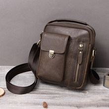 BOLO 2019 Fashion Men's bag Genuine Leather Shoulder Bag for Men Multi-function Messenger Bags Split Leather Bag for Man Travel(China)