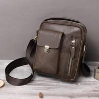 BOLO 2019 Fashion Men's bag Genuine Leather Shoulder Bag for Men Multi function Messenger Bags Split Leather Bag for Man Travel