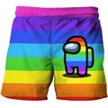 New Fashion Summer Children Boy Shorts Between Us 3D Shorts 4-14 Years Children Beach Short Casual Sports Pant Boy Girl Shorts
