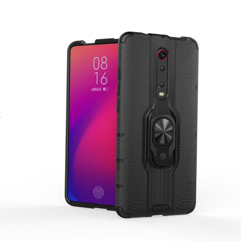 Luxury magnet ring holder Soft Phone Case On The For Xiaomi  mi 9T Pro redmi 7 note Shockproof Full Cover