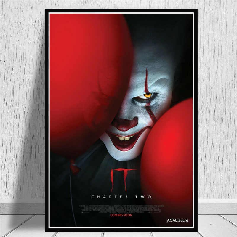 Caliente It Chapter 2 2019 película de terror Pennywise lienzo pintura al óleo Poster impresiones arte cuadros de pared para la decoración del hogar de la sala de estar