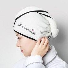 Magic Hair Drying Towel Hat Microfibre Quick Dry Turban For Bath