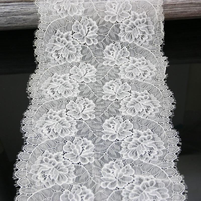 (3 метра) 23 см цветок стрейч кружева планки для одежды аксессуары платье Шитье аппликационный костюм кружевной ткани