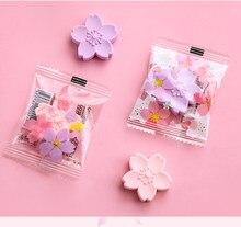 Flor de cerejeira de papelaria bonitos da escola para lápis de desenho de borracha em forma de borracha 2 pçs/lote