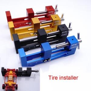 Image 1 - 1PC צמיג מתקין גלגל Loader צמיגי שרברב מכשיר עם נושאות Tamiya מיני 4WD כלים גדול/קטן סוג כלים חלקי DIY