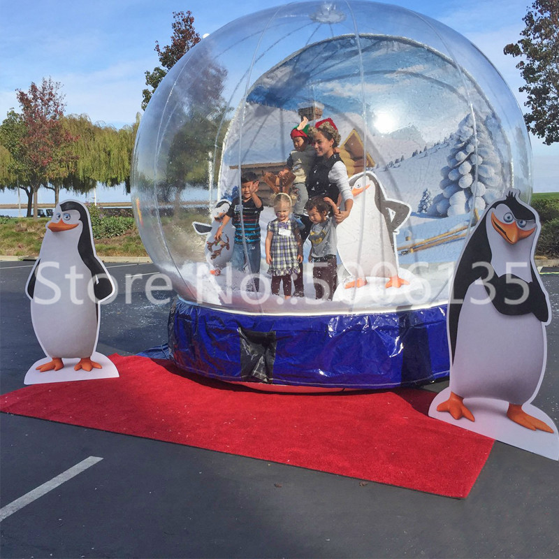Inflatable Night Light Winter Lovers inflatable Snow Globe transparent inflatable christmas globe ball Craft Decor Wedding Gift