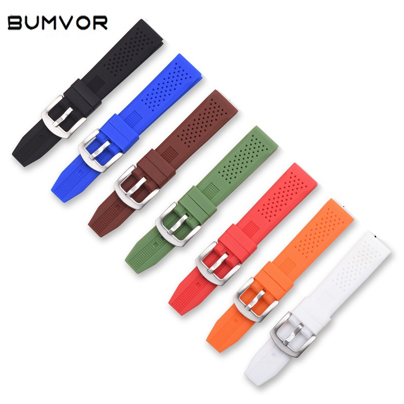 16mm 18mm 20mm 22mm 24mm Universal Rubber Strap Strap Diving Sports Watch With Bracelet For Samsung Color Soft Silicone Strap
