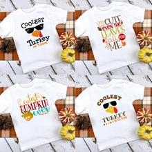 Shirt Kids Thanksgiving-Shirt Cutest Toddler Mamas Pumpkin Turkey Tees In-The-Patch Little