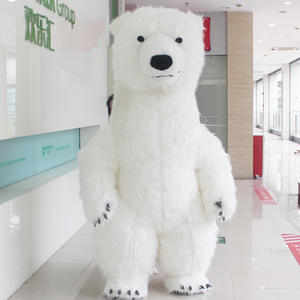 Mascot-Costume Long-Hair for Advertising Tall Suitable-For To Adult White Polar-Bear