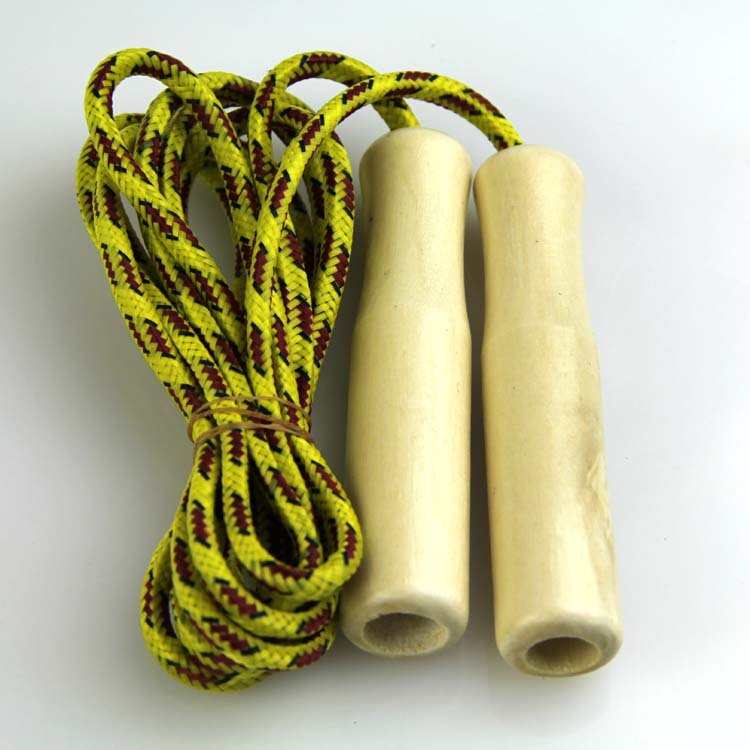 Cotton Yarn Jump Rope Sports Supplies Jump Rope Children Jump Rope Skipping Rope With Wooden Handle Weaving Children Skipping Ro