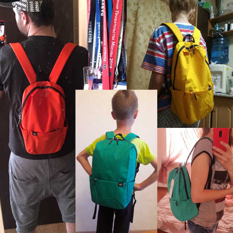 Plecak Xiaomi 10L wodoodporny kolorowy czas wolny sport mały rozmiar torba piersiowa torby Unisex dla mężczyzn kobiety plecak dla dzieci