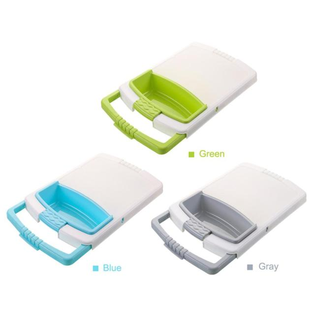 Multi-function Kitchen Cutting Board 3-in-1 Storage Basket Vegetable Fruit Drain Rack Detachable Basket Household 5