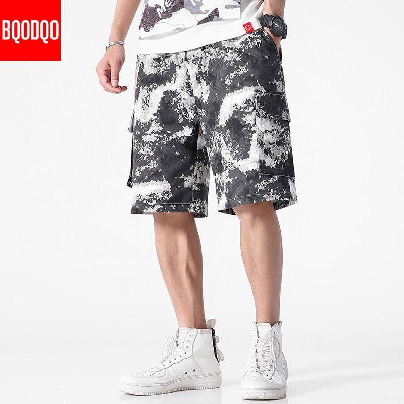 Cotton Camouflage Board Shorts Men Fitness Casual Fashion Khaki Beach Mens Short Trousers Japanese Summer Harem Cargo Pants 2019