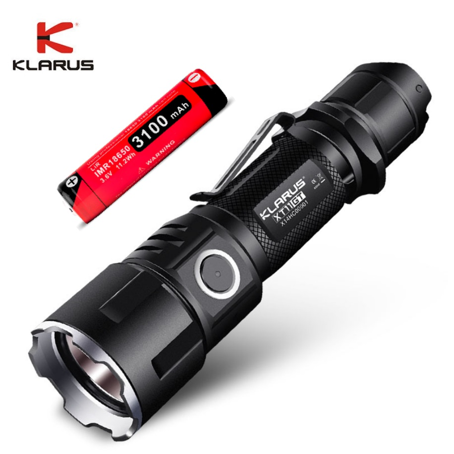 2019 KLARUS XT11GT Tactical Flashlight CREE XHP35 LED 2000 Lm LED Flashlight with18650 Battey for Military Exploration Camping