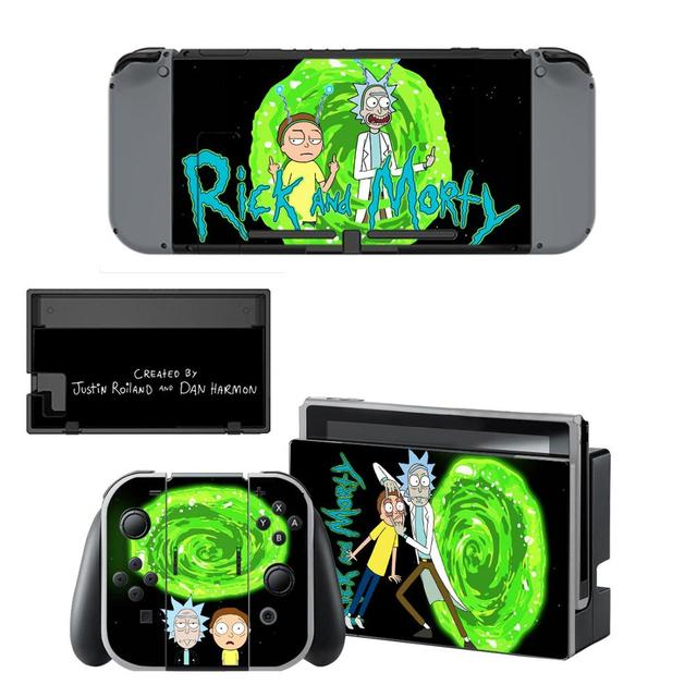 Nintend switch Stickers Rick and Morty Nintendoswitch Skin Sticker for Nintendo Switch Console & Joy-con Controller & Dock