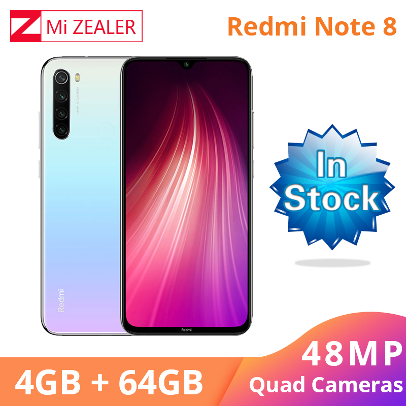 In Stock!!! Xiaomi Redmi Note 8 4GB RAM <font><b>64GB</b></font> ROM Octa Core <font><b>Smartphone</b></font> Snapdragon 665 48MP 6.3