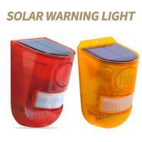 Luz de alarma Solar inalámbrica IP65 para exteriores, lámpara de seguridad con Sensor de movimiento para jardín, estroboscopio, luz LED de advertencia