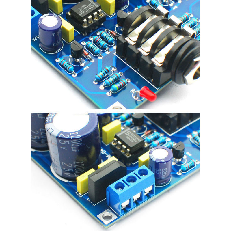 Hifi Headphone Amplifier Kit Solo Earphone Amplifier Amp Diy Kits Dual Ne5534 English Solo Upgrade Version in Earphone Accessories from Consumer Electronics