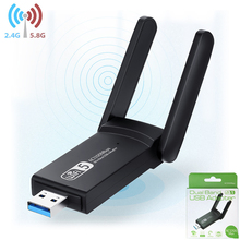 Network Card Wireless USB 3.0 Adapter Upgrade Wifi Dongle Dual Band Antenna 2.4G 5G 1200Mbps 802.11 Gbps LAN External Ethernet