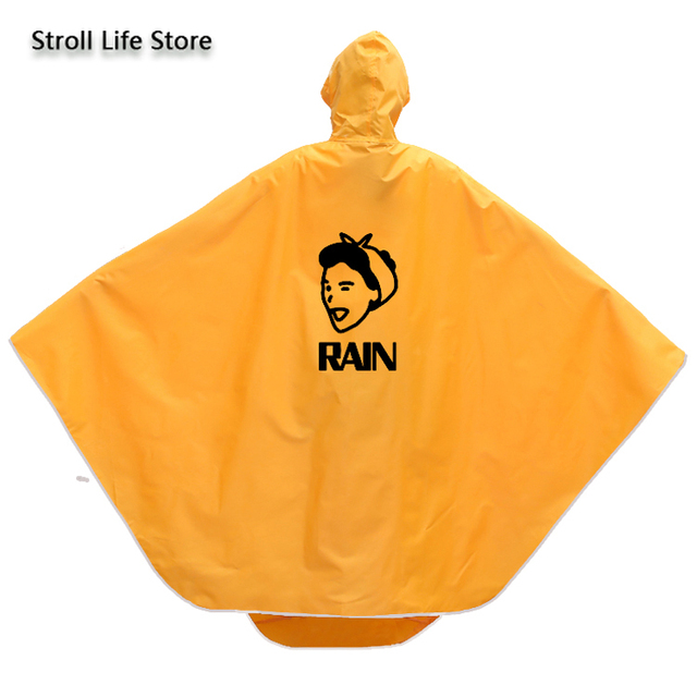 Electric Motorcycle Cute Yellow Rain Coat Women Girls Cartoon Long Raincoat Riding Bicycle Poncho Rain Jacket Cover Impermeable 2