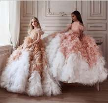 Роскошные платья на травах с цветами для девочек свадьбу высоким