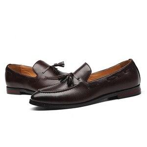 Image 5 - Ufficio uomini Casual Scarpe Da Uomo Formale Classico Nappa Slip on Mocassini Scarpe Uomo Pattini di Vestito di Affari Del Partito Scarpe Zapatos De hombre